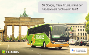 FlixBus, Google Assistant